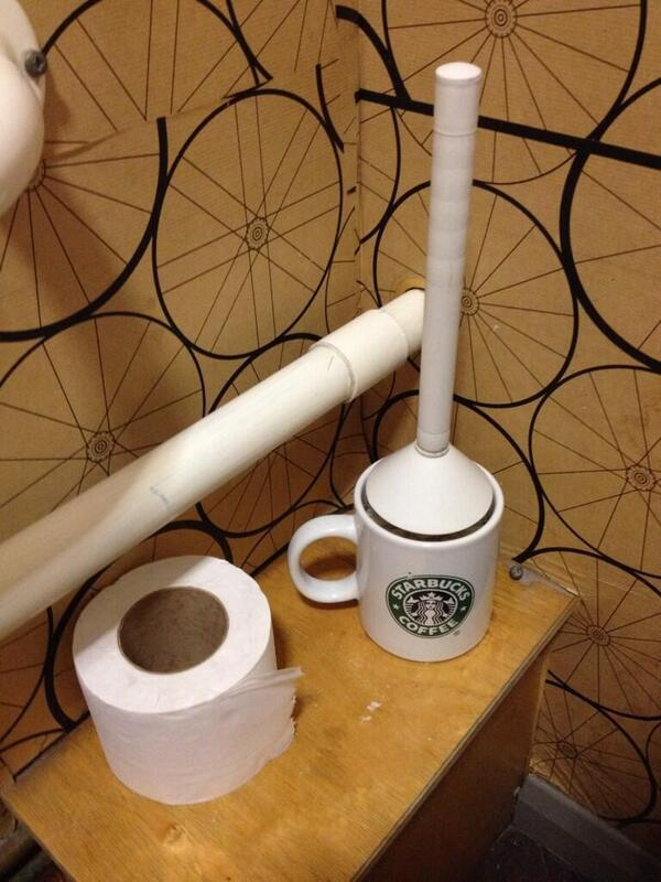 Independent cafe? Need a bog brush holder like ours? http://t.co/lsYBM8Q94D Voila! £6.50 well spent. #crappuccino http://t.co/DNMPjYoj6m