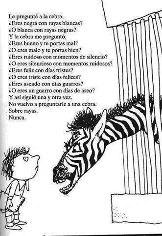 Zebra question, de S. Silverstein #relatosparaorientar vía @eraser - Original: http://t.co/RZl5qDRmJd - Traducción: http://t.co/GFOiB6pO9a
