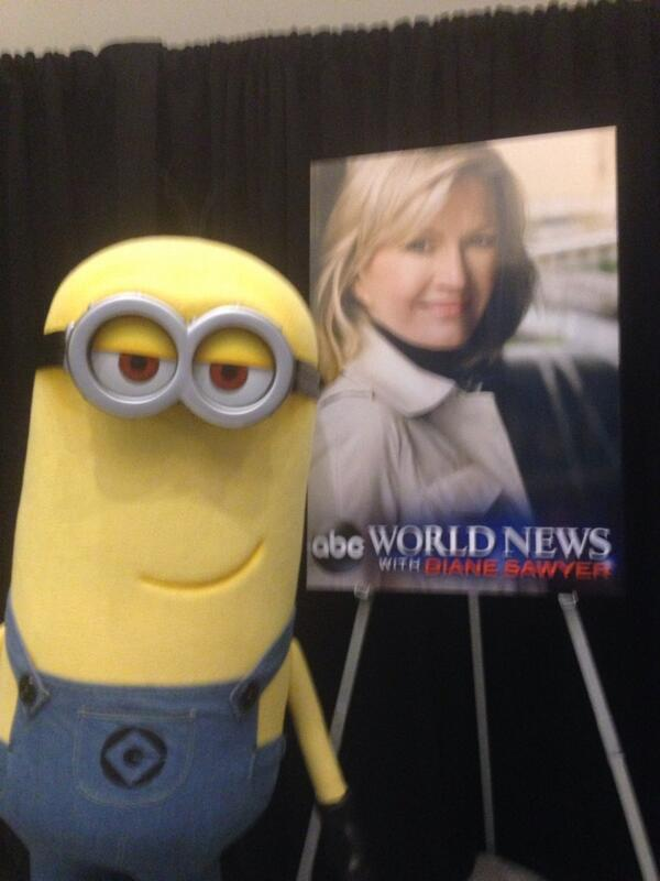 The #CreativityCon #minion is a big @ABCWorldNews with @DianeSawyer fan, apparently... http://t.co/MaVR0kK6V1