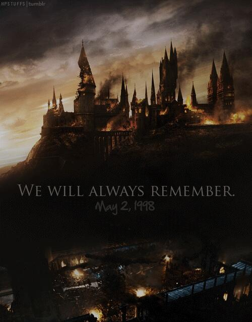 On this day, 16 years ago, Harry Potter defeated Lord Voldemort at the Battle of Hogwarts. #16YearsBattleOfHogwarts http://t.co/dqgK93bDFJ
