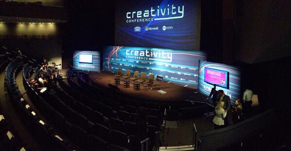 Main stage in the Newseum at #CreativityCon. Opening remarks start at 9 w/ ABC's Robin Sproul! http://t.co/huORinh1Pr