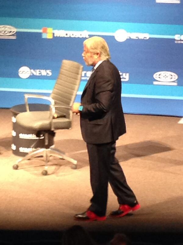 Check out those shoes on 3D Systems' President Avi Reichental. Wild guess... 3D printed? #CreativityCon http://t.co/JjZVB2HxjZ