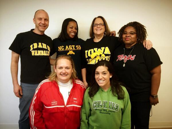 The @FAFSA team is sporting our school colors today! We're here to help you #ReachHigher & pursue your college dreams http://t.co/7zjkTcNuxZ