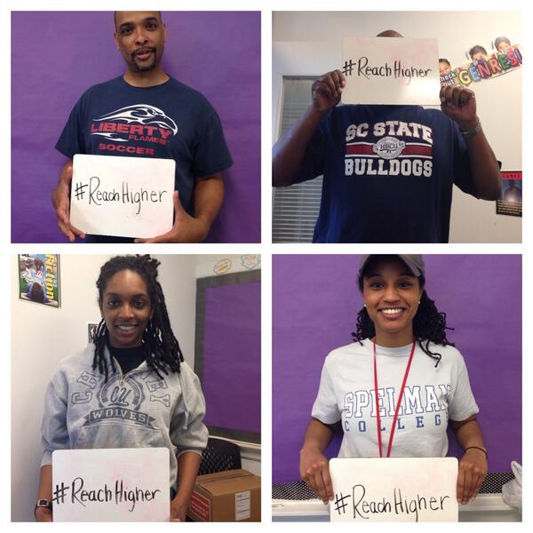 Our middle schol team wants our students to #ReachHigher! @FLOTUS http://t.co/ms7Q3BnJRR