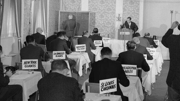 Draft Day.1964. Pete Rozelle at the podium. http://t.co/fdWdEtjqQa