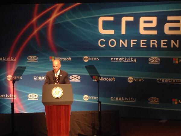 "Vp @JoeBiden at #CreativityCon: ""America is hardwired for innovation"" http://t.co/3zmiKeryRv"