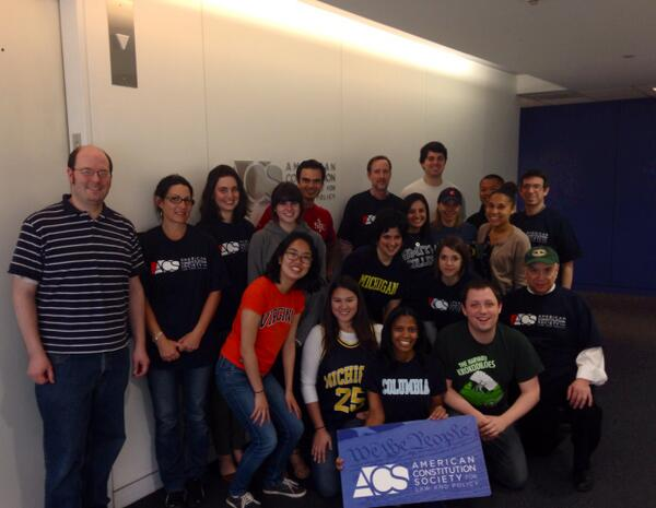 The ACS staff joins @FLOTUS in celebrating higher education! #ReachHigher http://t.co/UvE8aQrzUD