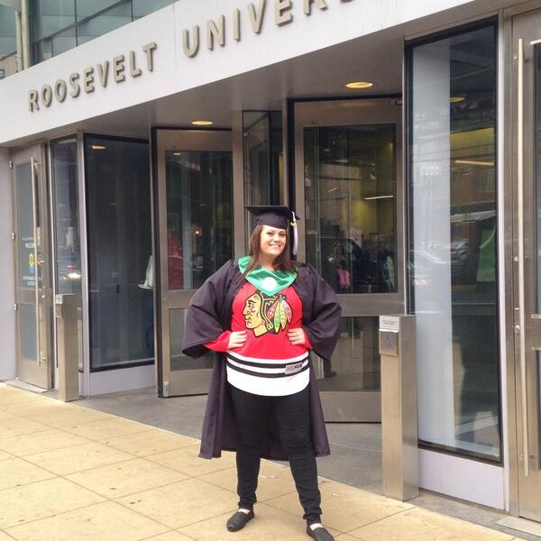 Only the coolest grads wear #Blackhawks attire! Let's go Hawks! #roosevelt2014 #BlackhawksDay http://t.co/YsdFjgcMjE