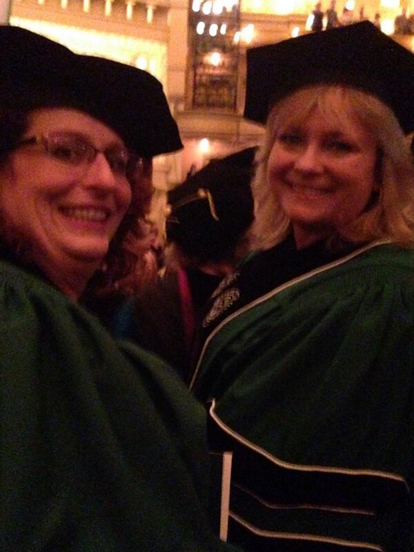 #Roosevelt2014 Me, Beth, Claire, & Christina graduating in Auditorium Theatre http://t.co/3lFZWJVjvI