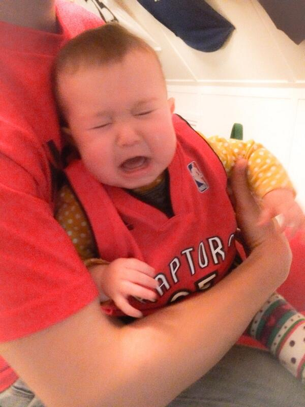 Hopefully we'll see a smile by the end! RT @_coachcal_: Abi's upset with the @Raptors start #RTZ #WeTheNorth http://t.co/d9M2VZqbdj""