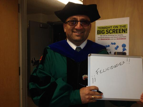 "Message from Dr. Olate ""Felicidades!"" #csweor http://t.co/ZjlKD4SzWa"