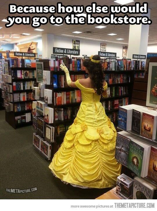 Because how else would you dress for a bookstore? #amreading #amwriting #princess http://t.co/BAcxEaFD8W