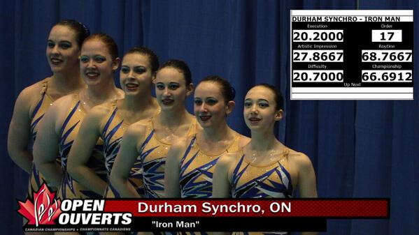 sportscanada tv on twitter durham synchro with a score of for their performance of. Black Bedroom Furniture Sets. Home Design Ideas