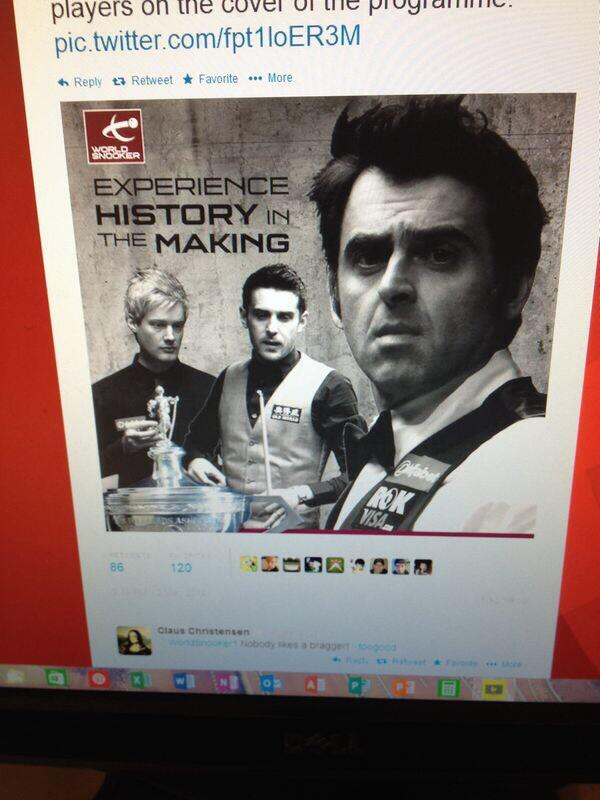 Who designed the programme front cover @WorldSnooker1 ? Psychic? Last three standing!! #dafabetsnooker http://t.co/7KbSBBkmmI