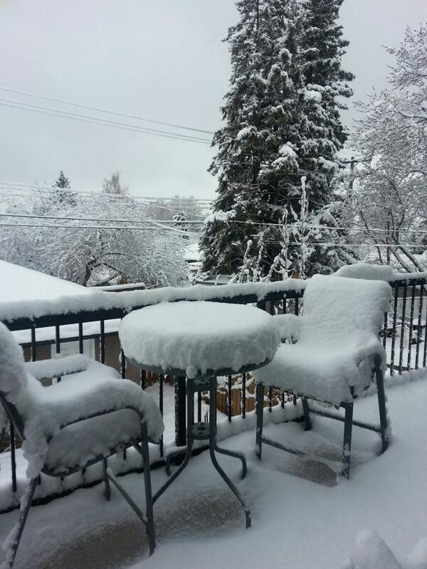 A spring morning in #yyc today! 7 is inches of snow http://t.co/YfIxfiGn36
