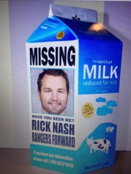 Image result for rick nash milk carton