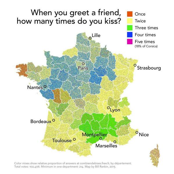 How many kisses French give as a greeting ? http://t.co/XoKXReiHxL
