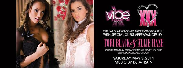 TONIGHT: @EXXXOTICA Official After Party with beautiful hosts @misstoriblack & @alliehaze & music by @djatrain http://t.co/gJw43t1OoW