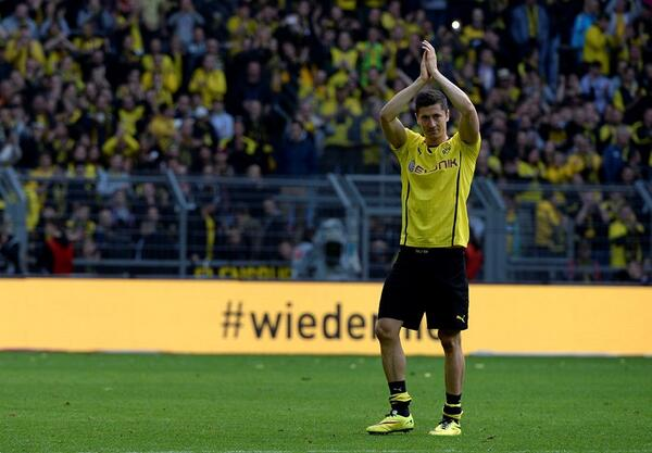 Bayern Munich bound Robert Lewandowski said goodbye in final Borussia Dortmund home game [Pictures]