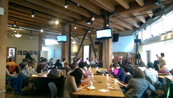 @hack2end is getting started @hubsea- follow along with #h2eh this weekend! #tech4good #homelessness http://t.co/Lu4GIE3Flw