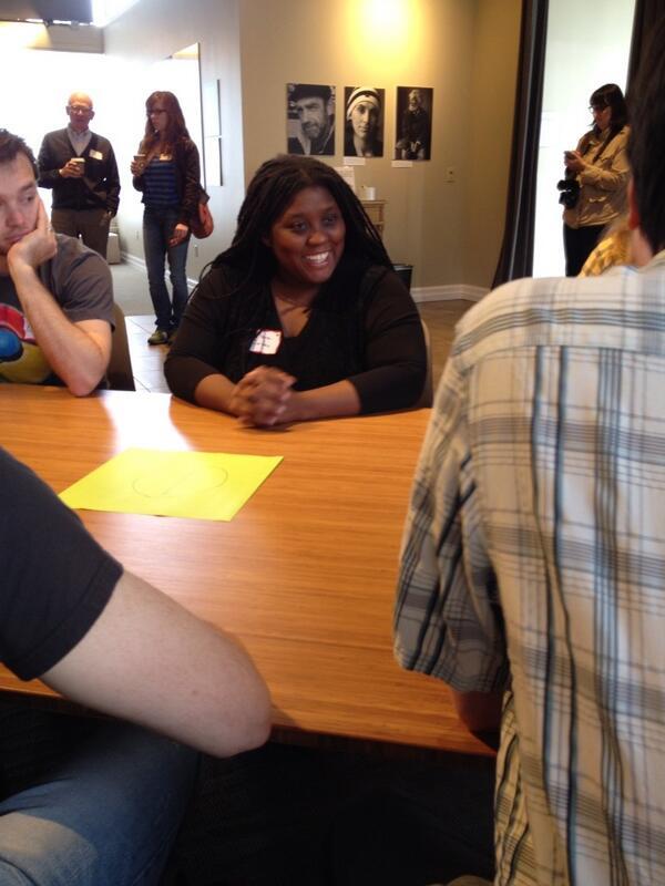Katara Jordan of @columbialgl_cyp  recruiting for project on #homelessness among WA schoolchildren. @hack2end #h2eh http://t.co/QXr84lkaEz