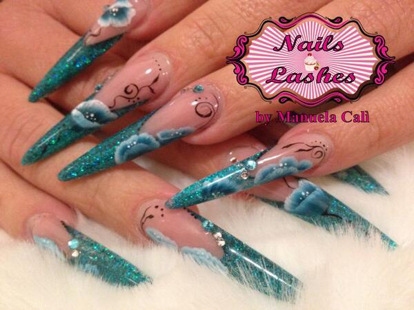 Nails lashes nailslashesroma twitter micropittura nails nailart httpnails lashesromaallungamento in gel forma stiletto micropittura picitternqmzwzybhw prinsesfo Gallery