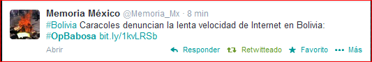 En México se hace eco de nuestra reivindicación #OpBabosa #MejorInternetYa Gracias @Memoria_Mx http://t.co/EihDcnNNrq