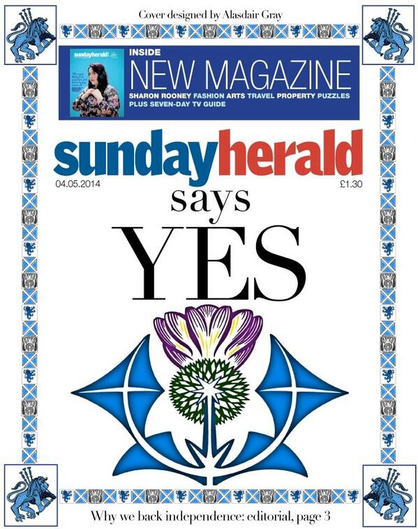 This week's @newsundayherald front page http://t.co/SSgMcD6ggf