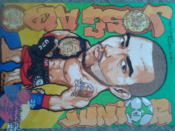 My new drawing for @ufc @Venumfight Champion @josealdojunior by a French artist @Vincenthury
