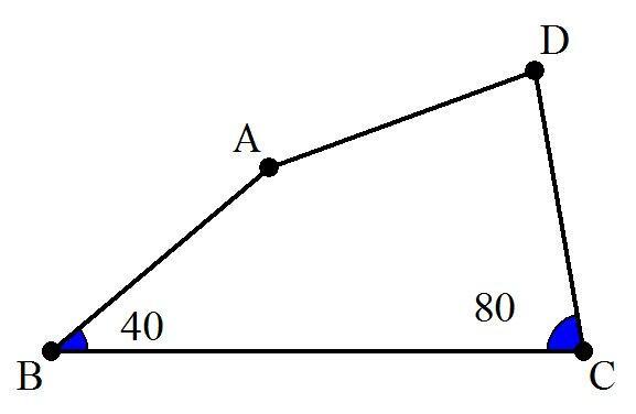 (18) 下図の四角形ABCDについて、AB=DA=CDが成り立っている。∠ADCの大きさを求めよ。 pic.twitter.com/BdQyePS286