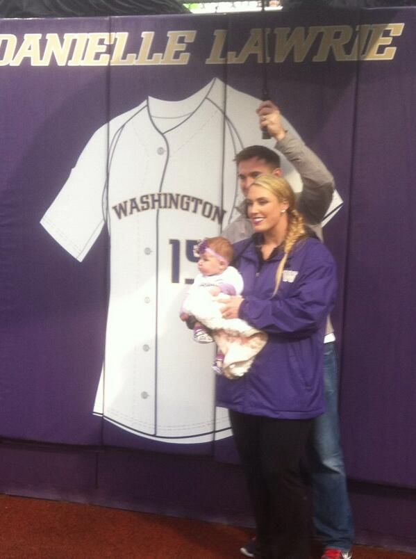 Danielle becomes the first player in Washington Softball history to have her jersey retired. http://t.co/kKulw3k27g
