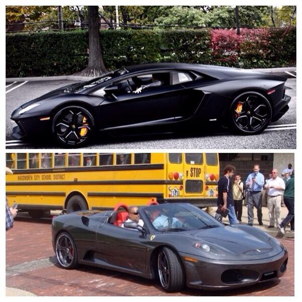 Celebrity Money On Twitter What Would You Drive Rt For Kobe Bryant S 400k Lamborghini Adventador Fav For Lebron James 275k Ferrari F430 Http T Co 2um97krxes
