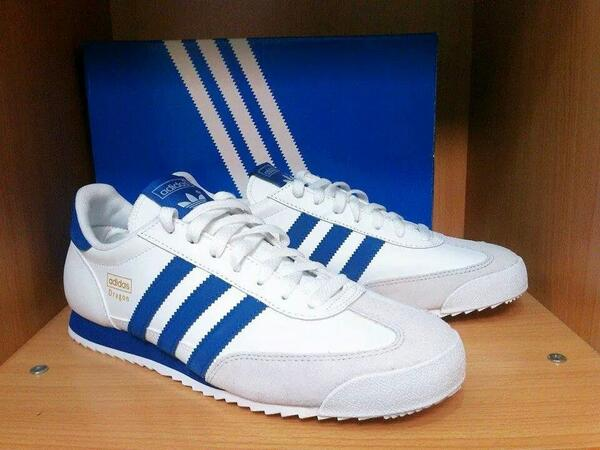 adidas dragon white and blue cheap online