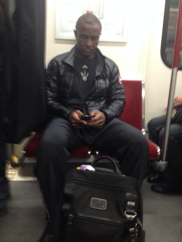 The best. @earvn: @_ArvinMendoza: Coach Dwayne Casey just chillin in the subway #rtz @Raptors http://t.co/cN5l75hLxb