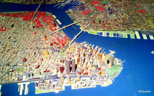 The Panorama of #NYC from the '64 Worlds Fair. http://t.co/F9h9gD9jH6