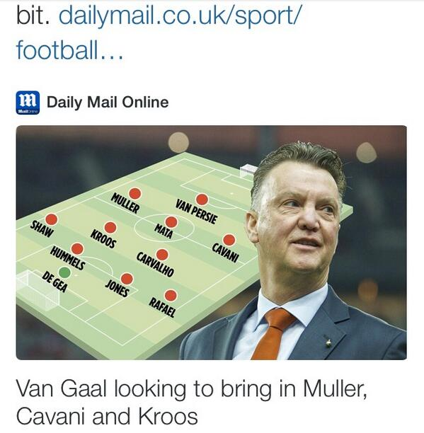 Man Uniteds starting XI next season will be pretty tasty, according to a Daily Mail graphic!