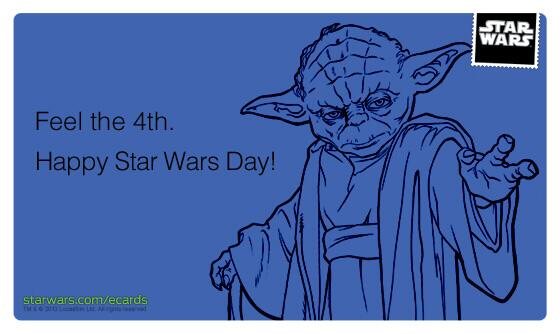 Good morning!  May the 4th be with you. :) #starwars http://t.co/m7z1zOyXhk