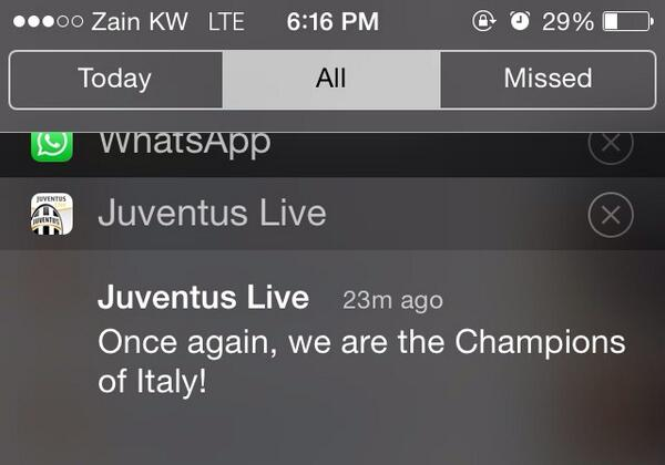 Highlight of my day #JuveX3 #32sulcampo #scudetto32 #conte32  @juventusfcen ❤️ http://t.co/gOZC8467lD