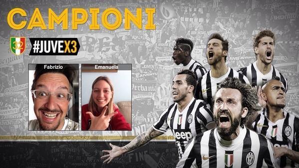 .@juventusfcen campione d'Italia! #Juvex3 #JuventusLive La #Socialphoto SPECIAL con @fabricapo http://t.co/oBDrht5lY6