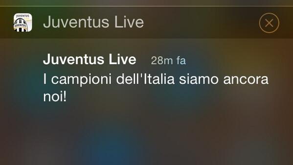 Questi sono gli update che ci piacciono #Juvex3 #campioniditalia @juventusfc http://t.co/8jtxf9Loa2