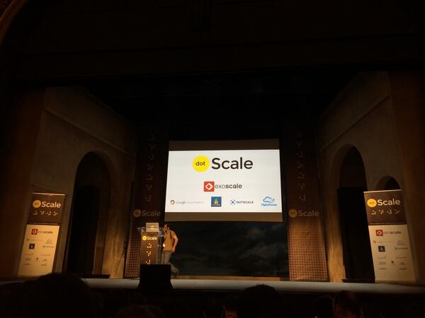 Talks about to start @dotScale conference http://t.co/xIacidXopz
