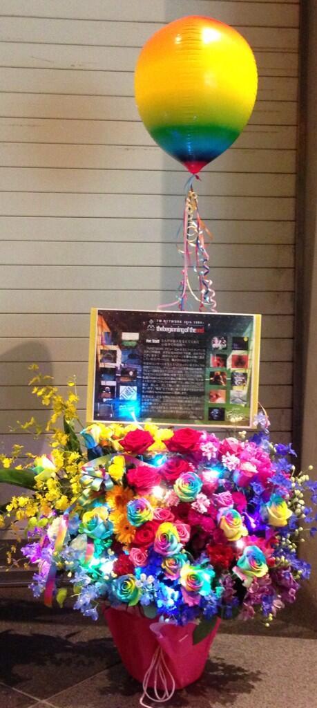 "☆TM30thお花企画 S1☆  楽屋花のプレートをデザインしました♪  こちらはスタッフ用です。http://t.co/ZROBUaEaEV #お花企画TM30th http://t.co/TRkHIbxEoP"""