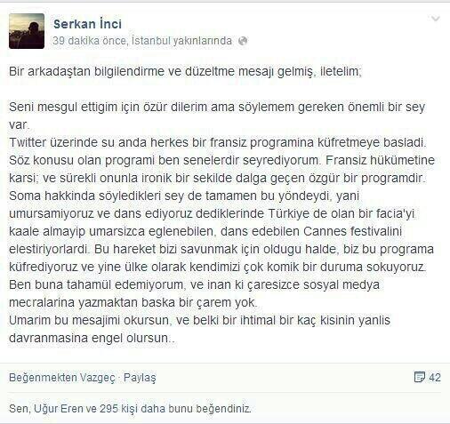 Frans�z Kanal�nda Soma Facias�yla Dalga Ge�ildi