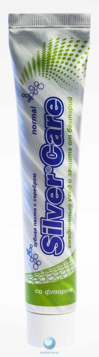зубная паста silver care control с серебром без фтора 75мл купить