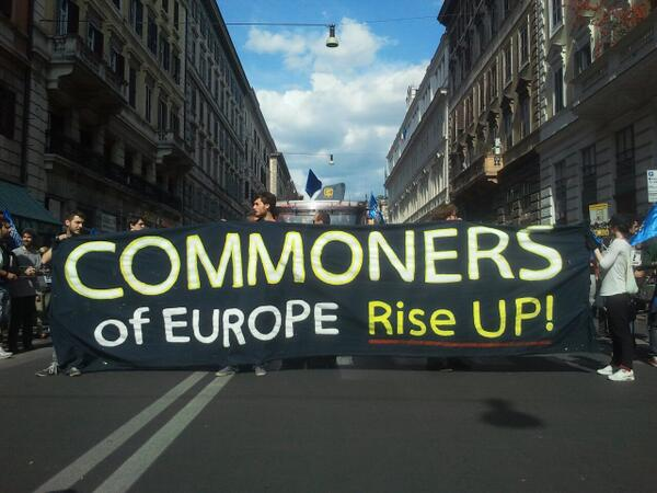 #17M Commomers of Europe rise up! #commons #mayofsolidarity #Europe4the99 #Ilmovimentofabene http://t.co/32EDXbdnnS