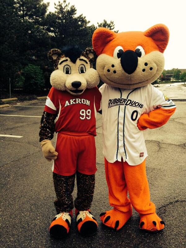 ryan pritt on twitter the akron racers mascot kind of scares me