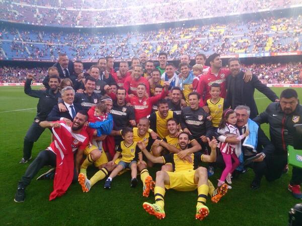¡¡¡Campeones!!! Orgulloso de este equipo y de nuestra afición #AúpaAtleti http://t.co/yyB1udpg3F