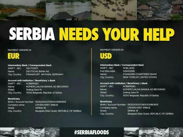 Can you help with just one RT? Serbia needs your help http://t.co/3cFzcB9pYe #serbiafloods #SerbiaNeedsHelp http://t.co/FoAv09iifB