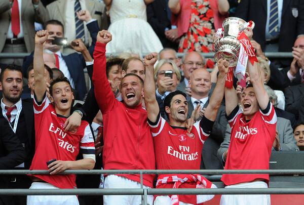 We did it! What an amazing feeling! #FACup #AFC #Wembley http://t.co/zSlFZdy9hj