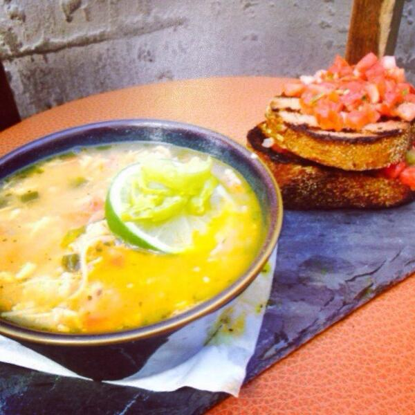 Tonight's Specials: Sopa de Lima- fresh lime and roasted chicken soup with a Mexican bruschetta. #RoccosTacos http://t.co/m9JlGxhCnL